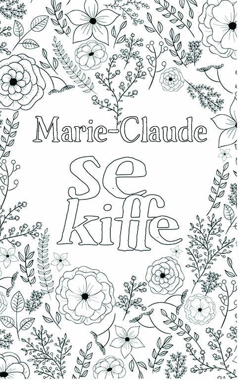 coloriage adulte anti stress personalisé avec prénom Marie-Claude