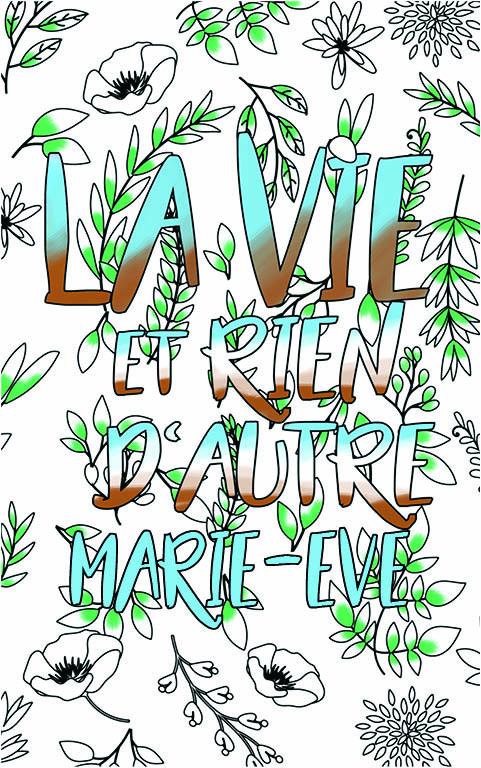 coloriage adulte anti stress personalisé avec prénom Marie-Eve idée cadeau meilleure amie