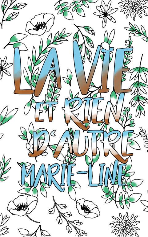 coloriage adulte anti stress personalisé avec prénom Marie-Line idée cadeau meilleure amie