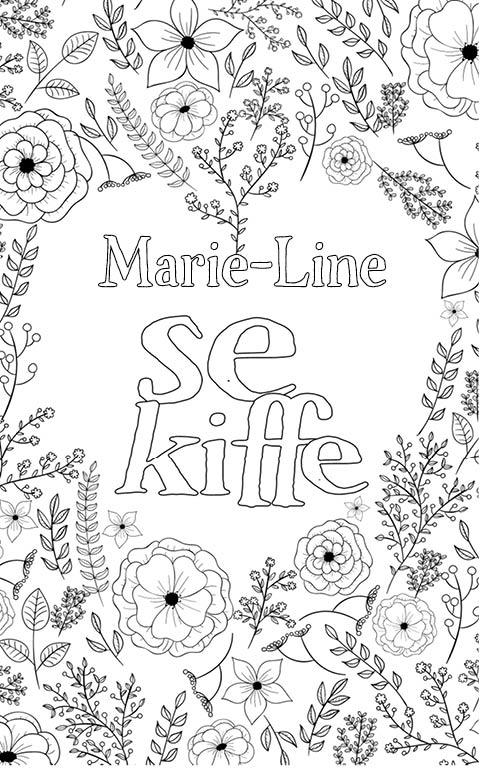 coloriage adulte anti stress personalisé avec prénom Marie-Line