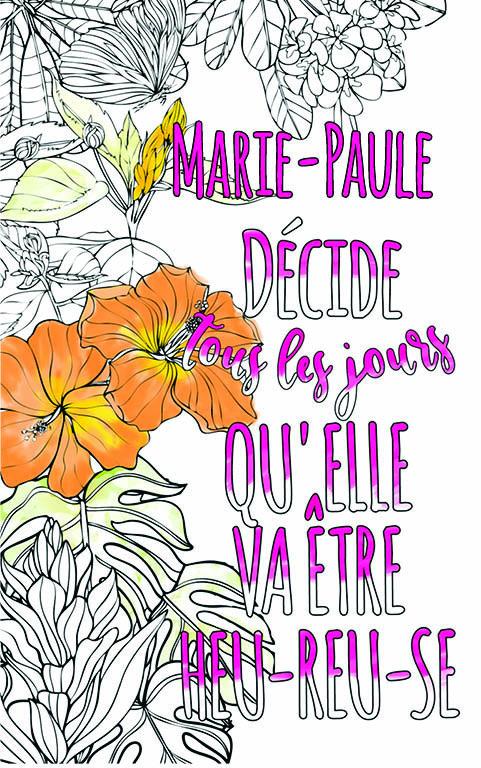 coloriage adulte anti stress personalisé avec prénom Marie-Paule idée cadeau meilleure amie