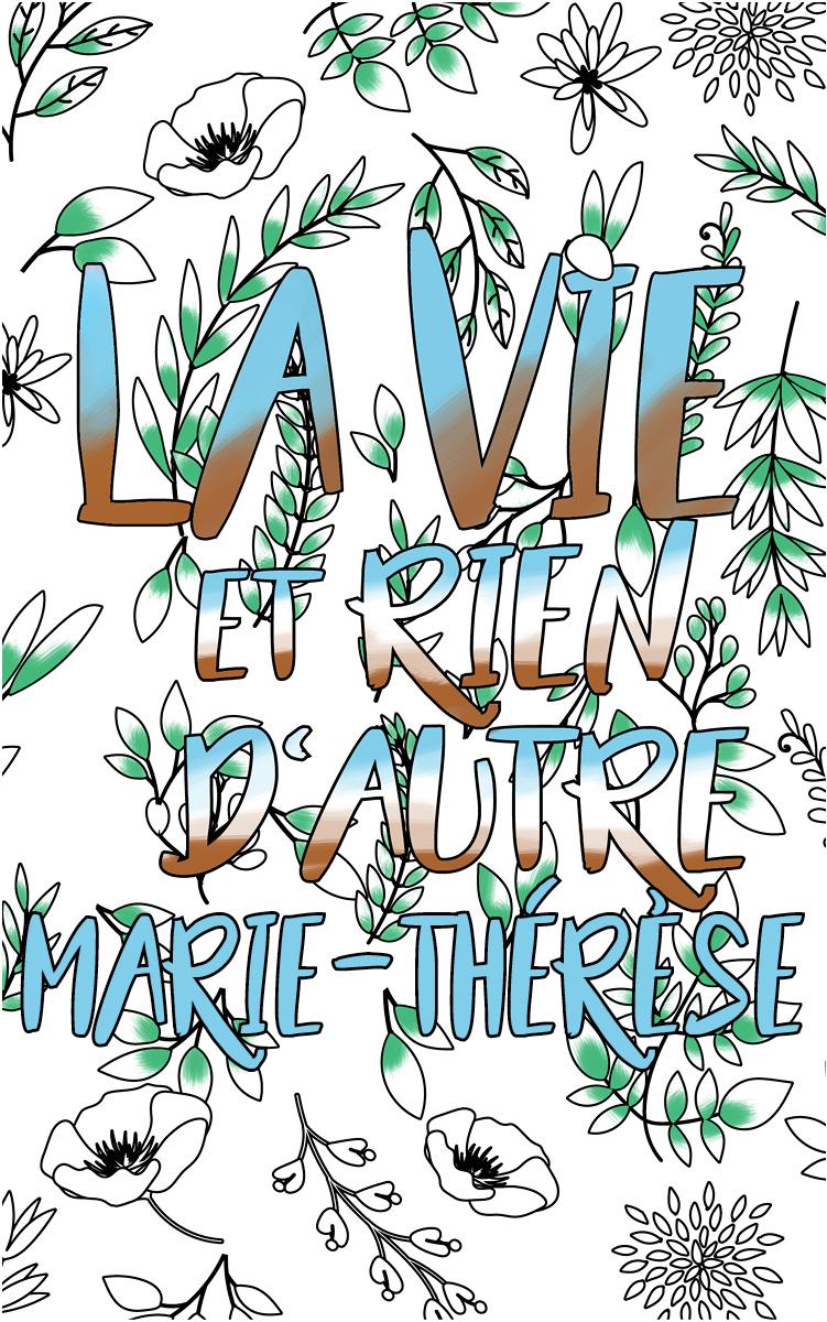 coloriage adulte anti stress personalisé avec prénom Marie-Thérèse idée cadeau Marie-Thérèse