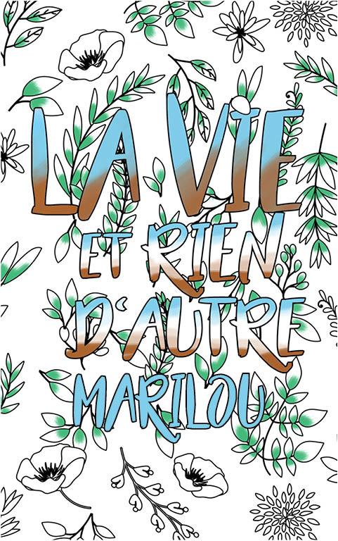 coloriage adulte anti stress personalisé avec prénom Marilou idée cadeau meilleure amie
