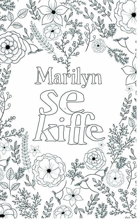 coloriage adulte anti stress personalisé avec prénom Marilyn