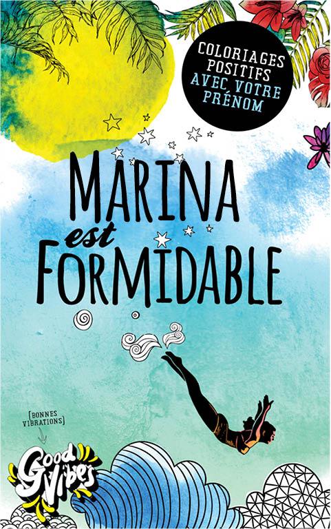 Marina est formidable livre de coloriage personalisé cadeau pour sa meilleure amie ou sa mère