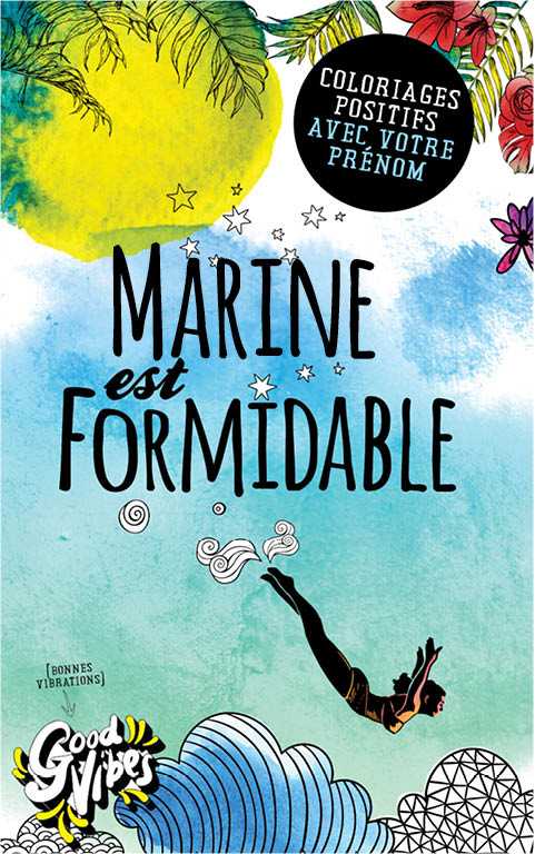 Marine est formidable livre de coloriage personalisé cadeau pour sa meilleure amie ou sa mère