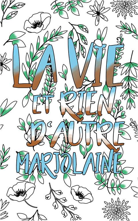 coloriage adulte anti stress personalisé avec prénom Marjolaine idée cadeau meilleure amie