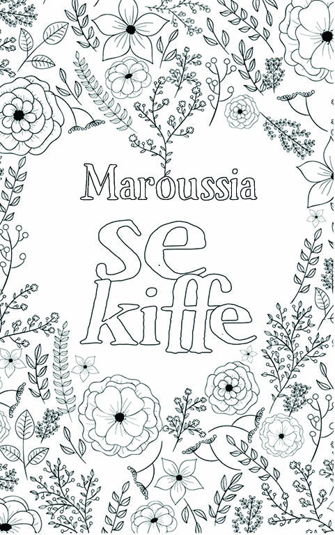 coloriage adulte anti stress personalisé avec prénom Maroussia