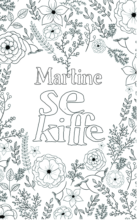 coloriage adulte anti stress personalisé avec prénom Martine