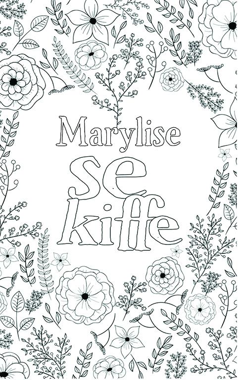 coloriage adulte anti stress personalisé avec prénom Marylise