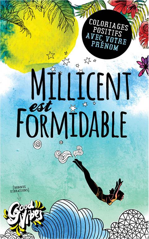 Millicent est formidable livre de coloriage personalisé cadeau pour sa meilleure amie ou sa mère