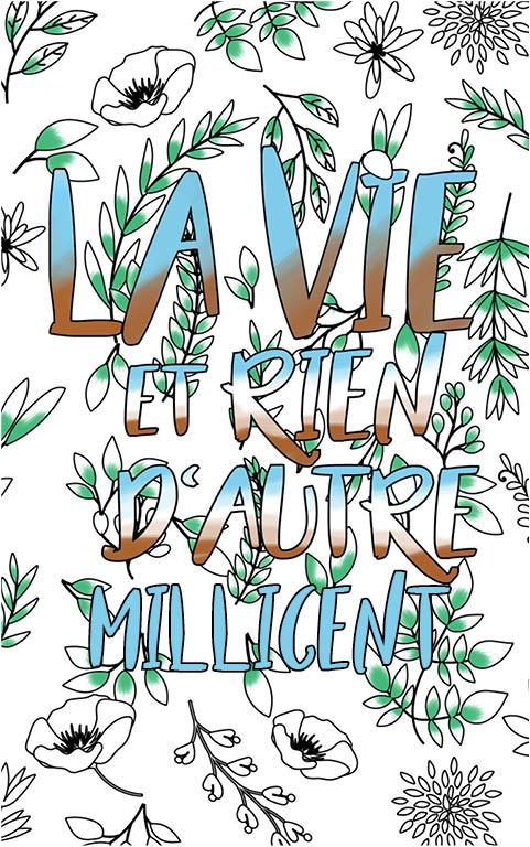 coloriage adulte anti stress personalisé avec prénom Millicent idée cadeau meilleure amie
