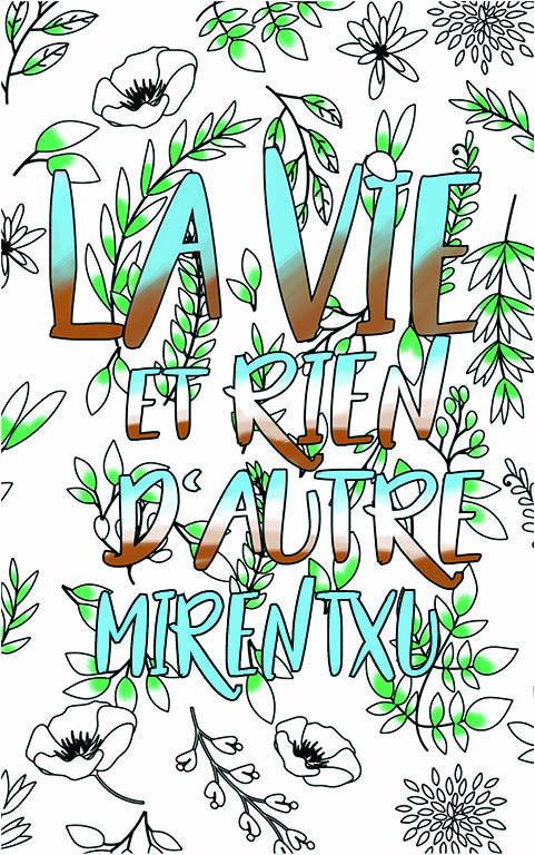 coloriage adulte anti stress personalisé avec prénom Mirentxu idée cadeau meilleure amie