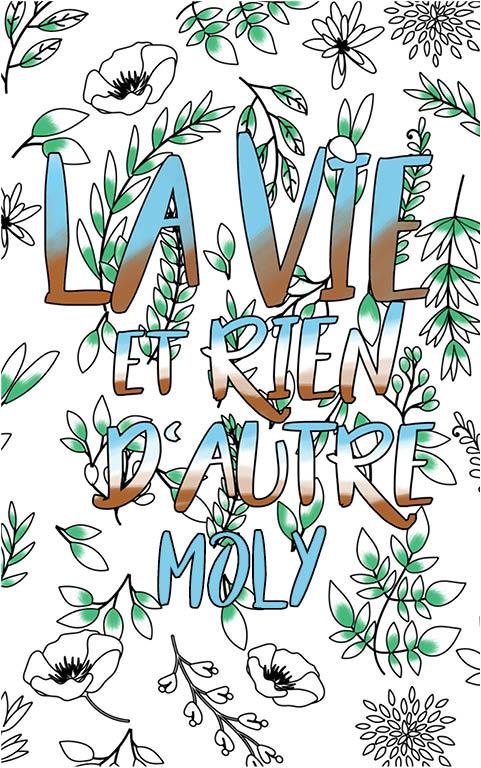 coloriage adulte anti stress personalisé avec prénom Moly idée cadeau meilleure amie