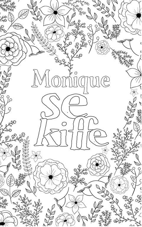 coloriage adulte anti stress personalisé avec prénom Monique