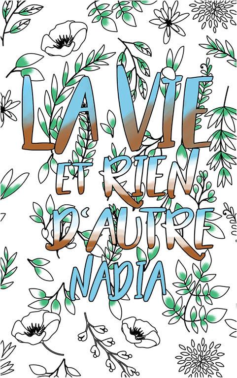 coloriage adulte anti stress personalisé avec prénom Nadia idée cadeau meilleure amie