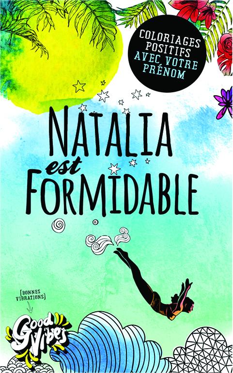 Natalia est formidable livre de coloriage personalisé cadeau pour sa meilleure amie ou sa mère