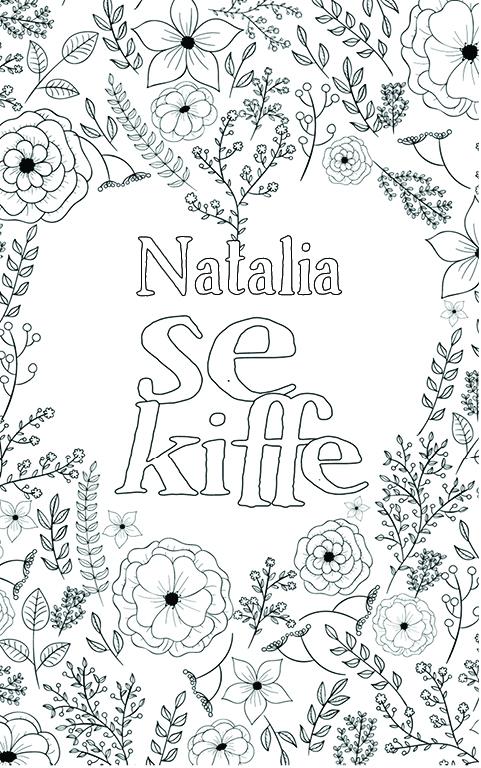 coloriage adulte anti stress personalisé avec prénom Natalia