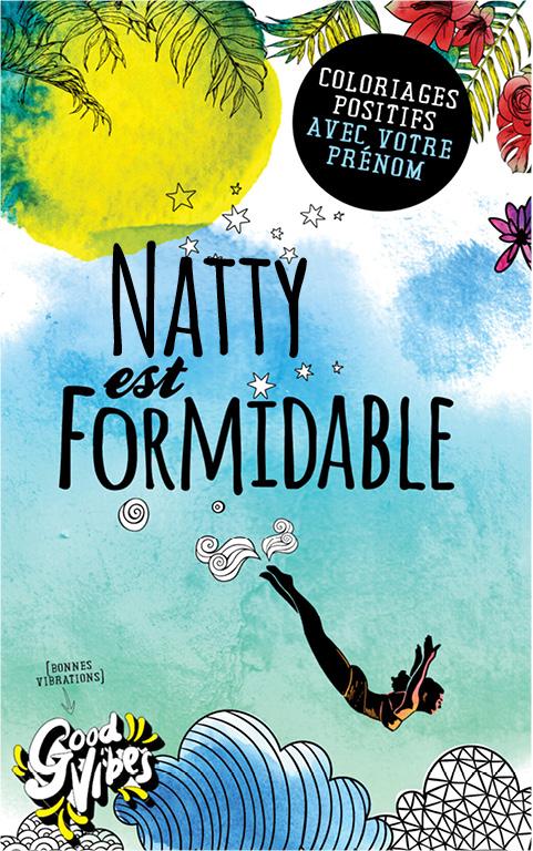 Natty est formidable livre de coloriage personalisé cadeau pour sa meilleure amie ou sa mère