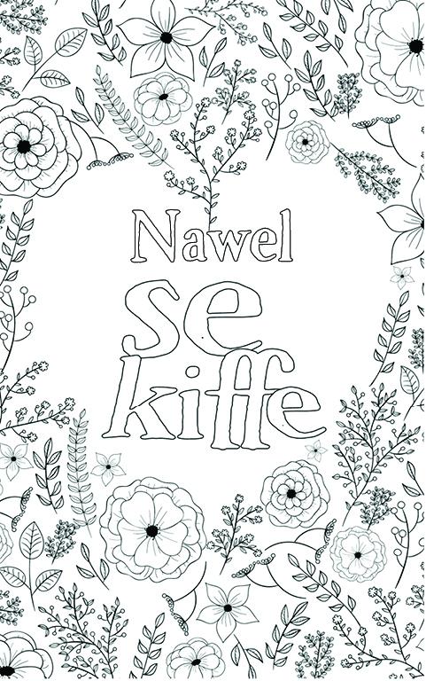 coloriage adulte anti stress personalisé avec prénom Nawel