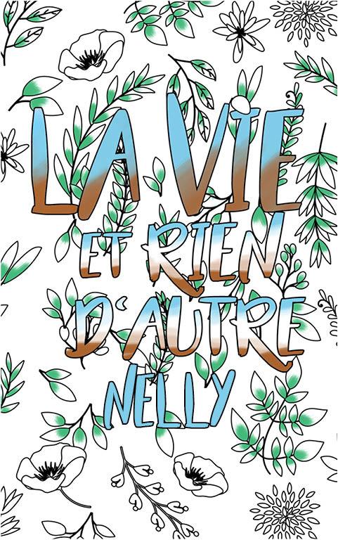 coloriage adulte anti stress personalisé avec prénom Nelly idée cadeau meilleure amie