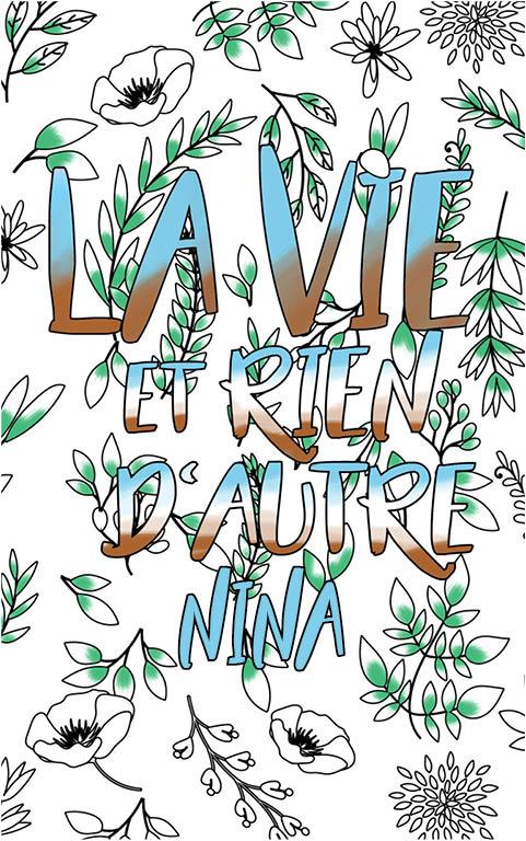 coloriage adulte anti stress personalisé avec prénom Nina idée cadeau meilleure amie