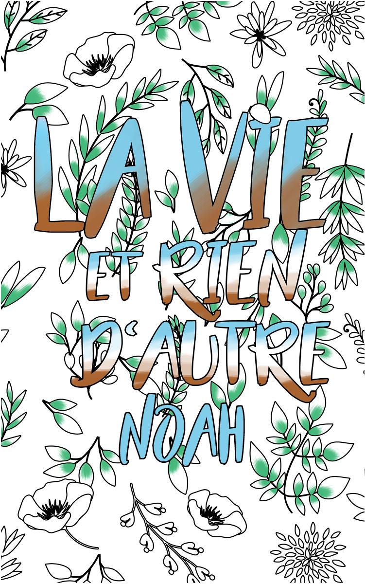 coloriage adulte anti stress personalisé avec prénom Noah idée cadeau meilleur ami