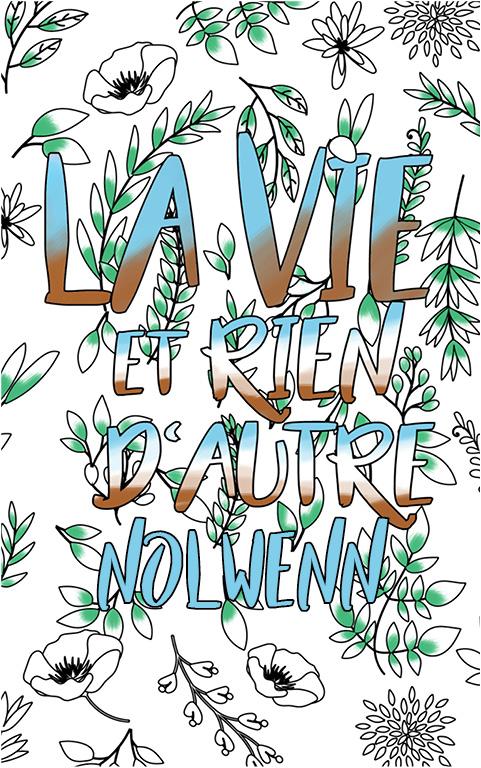coloriage adulte anti stress personalisé avec prénom Nolwenn idée cadeau meilleure amie
