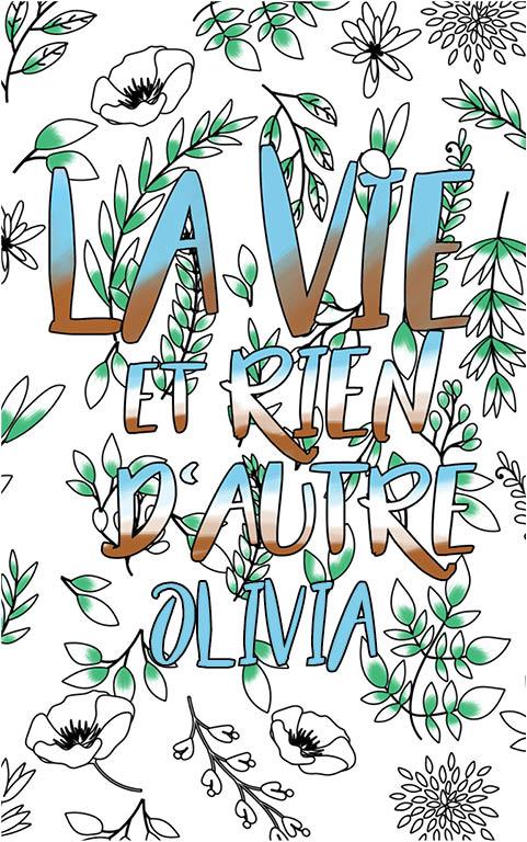 coloriage adulte anti stress personalisé avec prénom Olivia idée cadeau meilleure amie