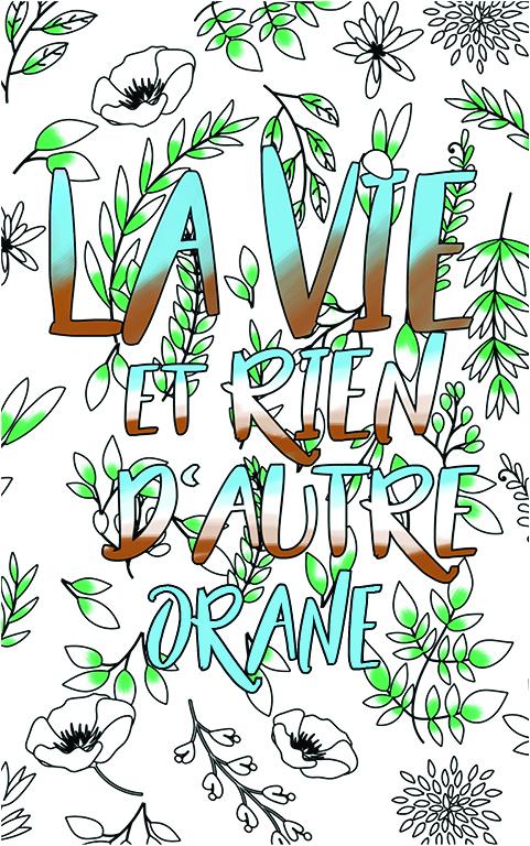 coloriage adulte anti stress personalisé avec prénom Orane idée cadeau meilleure amie