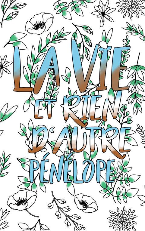 coloriage adulte anti stress personalisé avec prénom Pénélope idée cadeau meilleure amie
