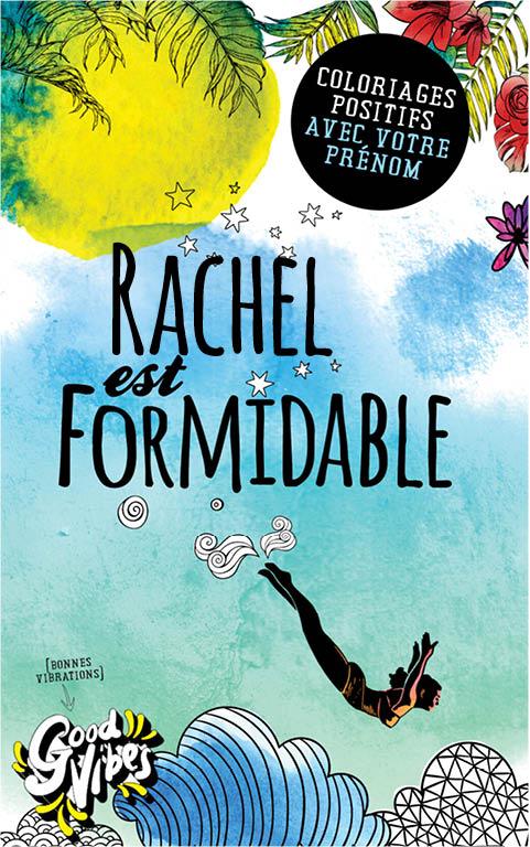 Rachel est formidable livre de coloriage personalisé cadeau pour sa meilleure amie ou sa mère