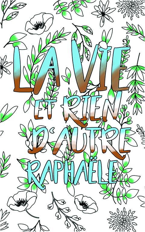 coloriage adulte anti stress personalisé avec prénom Raphaële idée cadeau meilleure amie