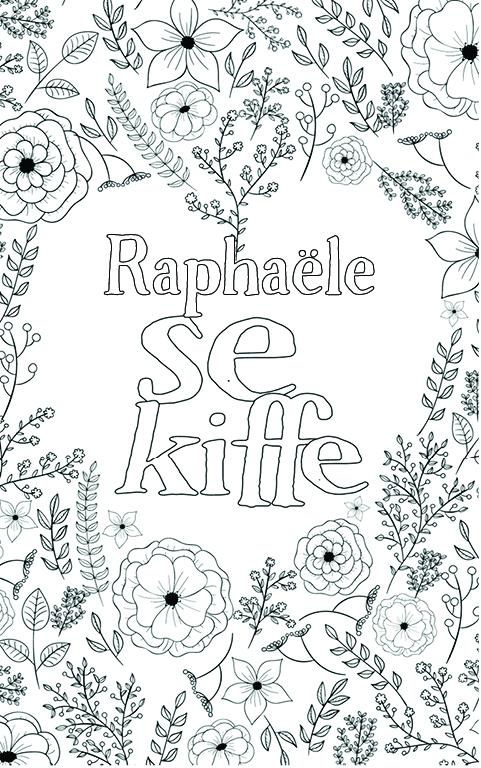 coloriage adulte anti stress personalisé avec prénom Raphaële