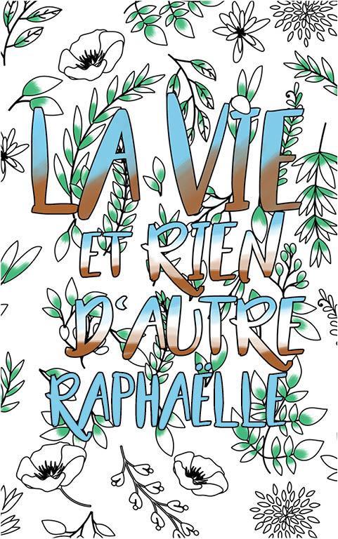 coloriage adulte anti stress personalisé avec prénom Raphaëlle idée cadeau meilleure amie