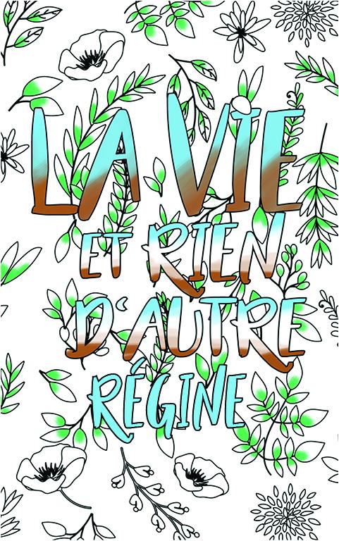 coloriage adulte anti stress personalisé avec prénom Régine idée cadeau meilleure amie