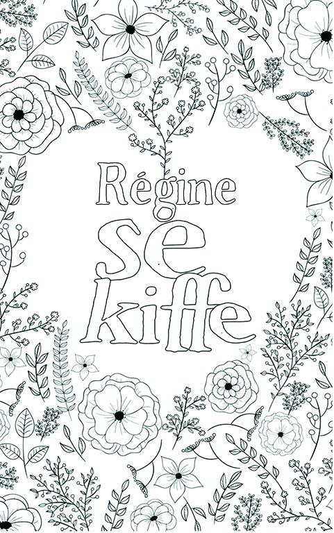 coloriage adulte anti stress personalisé avec prénom Régine