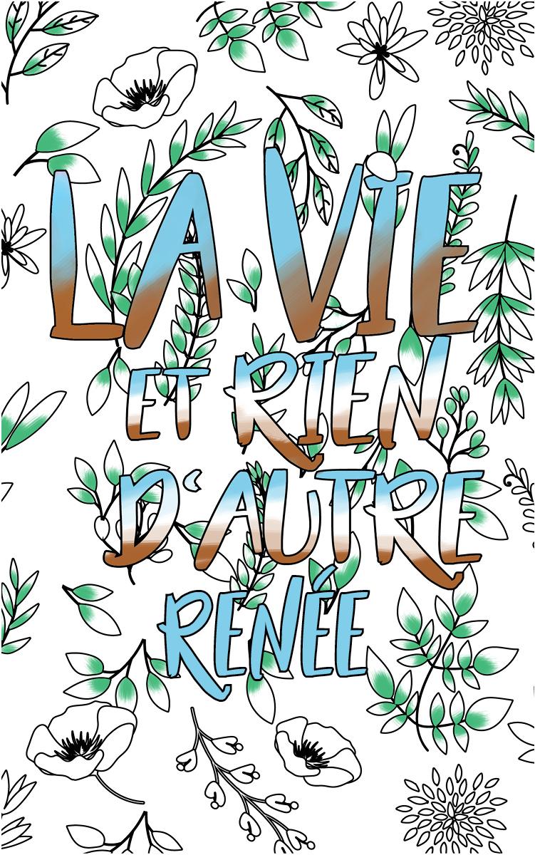 coloriage adulte anti stress personalisé avec prénom Renée idée cadeau Renée