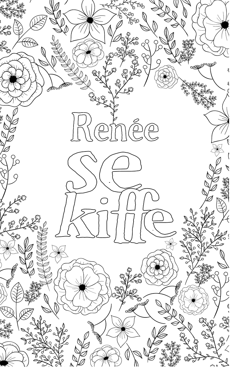coloriage adulte anti stress personalisé avec prénom Renée