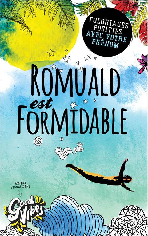 Romuald est formidable livre de coloriage personalisé cadeau pour son meilleur ami ou son père