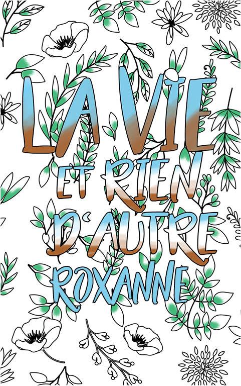 coloriage adulte anti stress personalisé avec prénom Roxanne idée cadeau meilleure amie