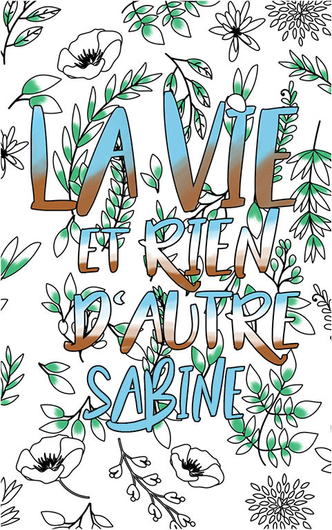 coloriage adulte anti stress personalisé avec prénom Sabine idée cadeau meilleure amie