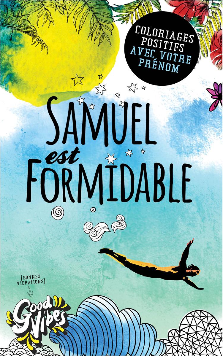 Samuel est formidable livre de coloriage personalisé cadeau pour son meilleur ami ou son père