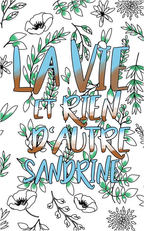 coloriage adulte anti stress personalisé avec prénom Sandrine idée cadeau meilleure amie