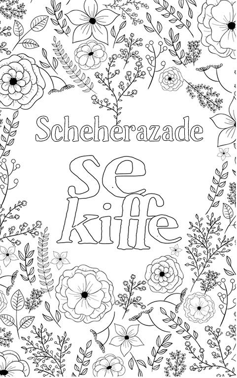 coloriage adulte anti stress personalisé avec prénom Scheherazade