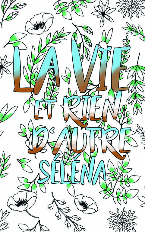 coloriage adulte anti stress personalisé avec prénom Séléna idée cadeau meilleure amie