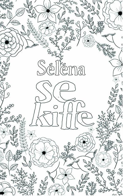 coloriage adulte anti stress personalisé avec prénom Séléna