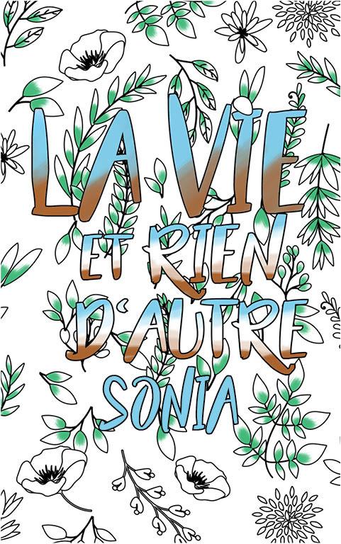 coloriage adulte anti stress personalisé avec prénom Sonia idée cadeau meilleure amie