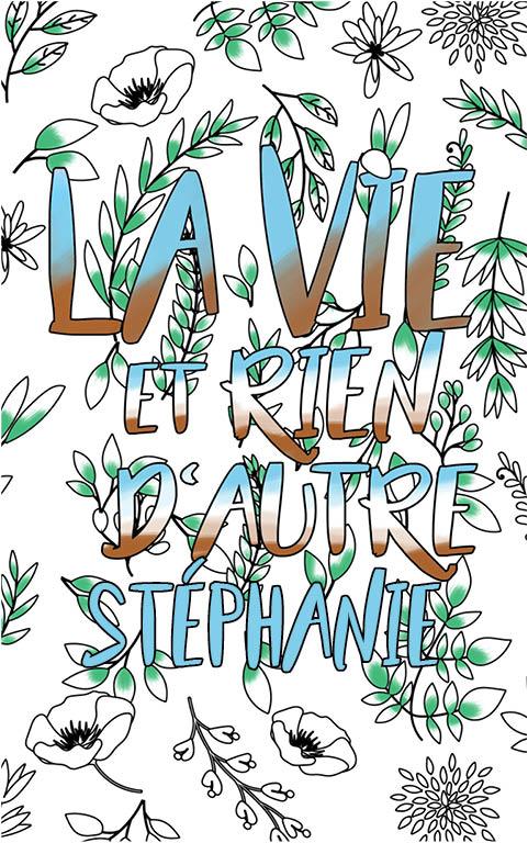 coloriage adulte anti stress personalisé avec prénom Stéphanie idée cadeau meilleure amie
