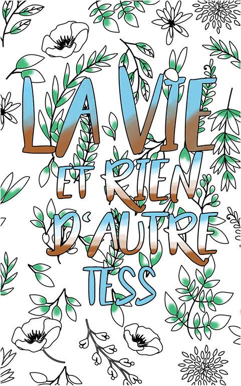coloriage adulte anti stress personalisé avec prénom Tess idée cadeau meilleure amie